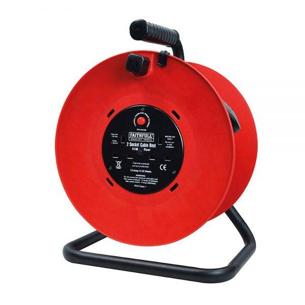Faithfull 230v 50m 13a Cable Reel