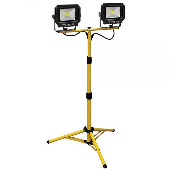 Faithfull 40w Tripod Bob LED Sitelight c/w Tripod 2800 Lumen 240v