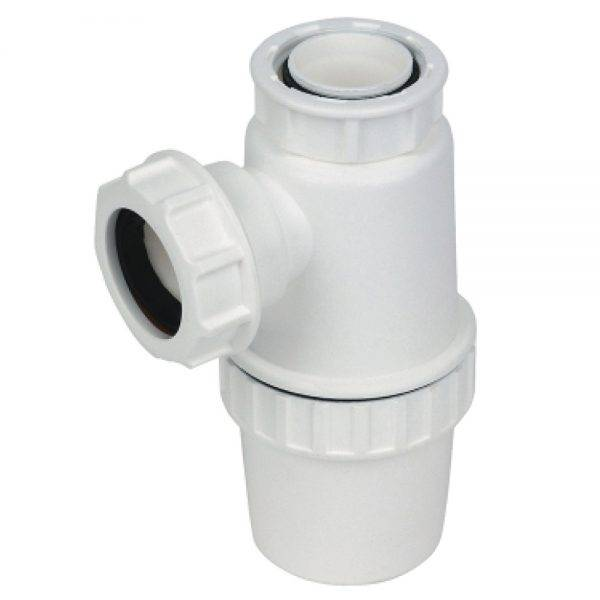 Floplast 32mm (76mm Seal) Bottle Trap White