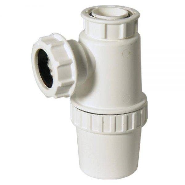 Floplast 32mm (76mm Seal) Anti Vac Bottle Trap White