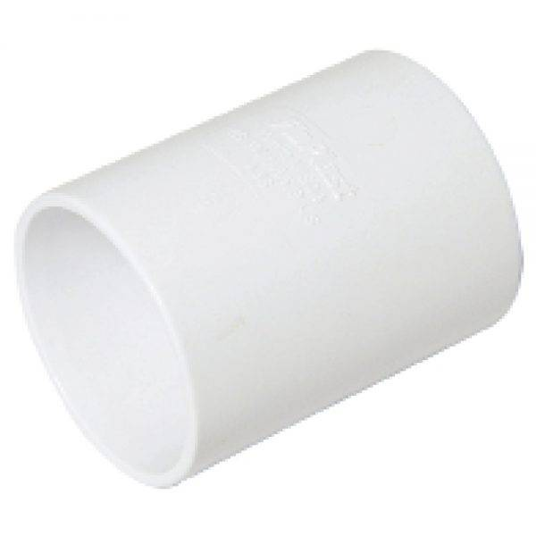 Floplast 32mm ABS Solvent Weld Straight Coupling White
