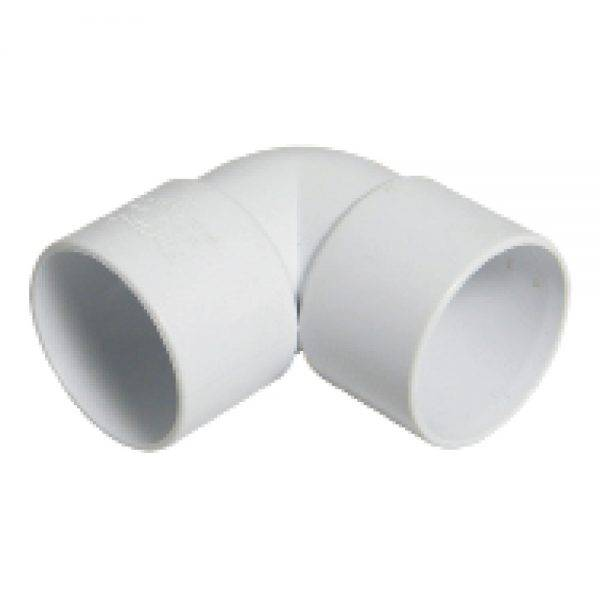 Floplast 32mm 90° ABS Solvent Weld Bend White