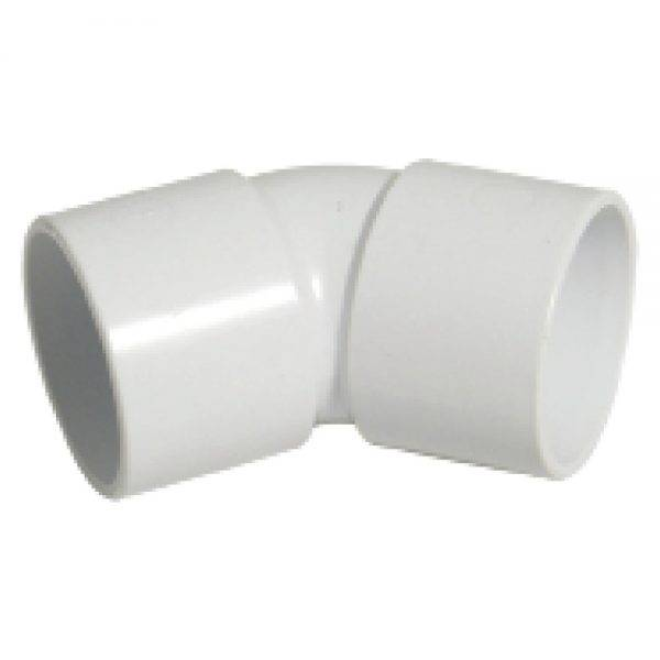 Floplast 32mm 135° (45°) ABS Solvent Weld Bend White