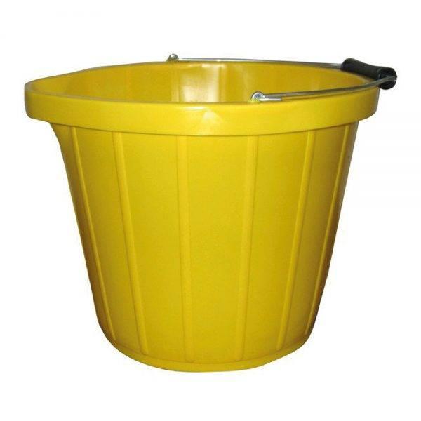 3 Gallon Builders Bucket Yellow