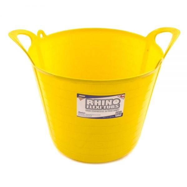 Rhino 26L Flexi Tub Yellow