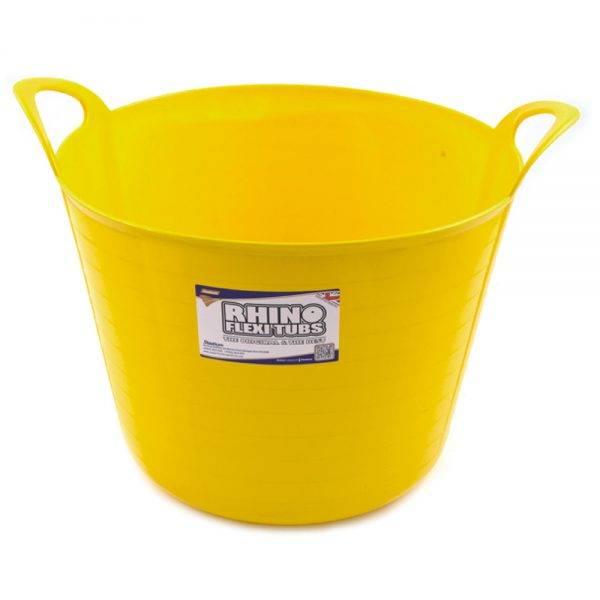 Rhino 40L Flexi Tub Yellow