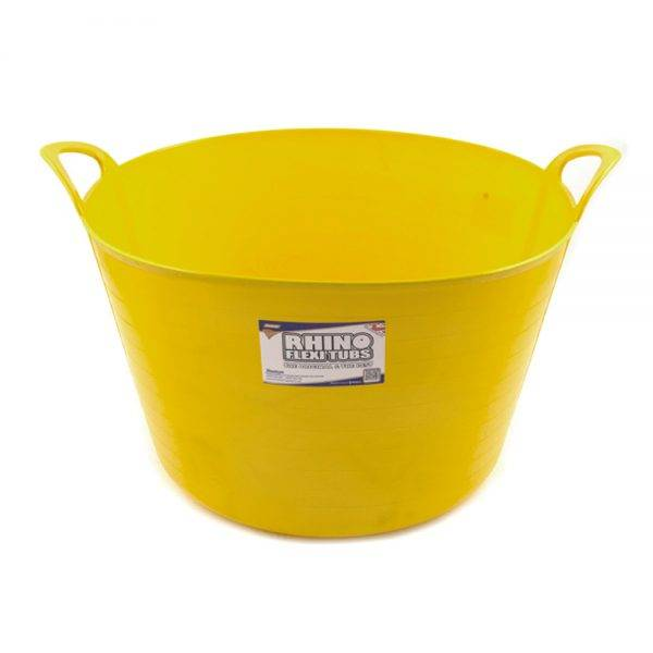 Rhino 75L Flexi Tub Yellow