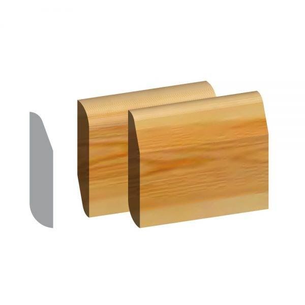 Redwood 5ths Chamfered & Rounded/Bullnose Dual Purpose Skirting FSC® 19 x 100mm