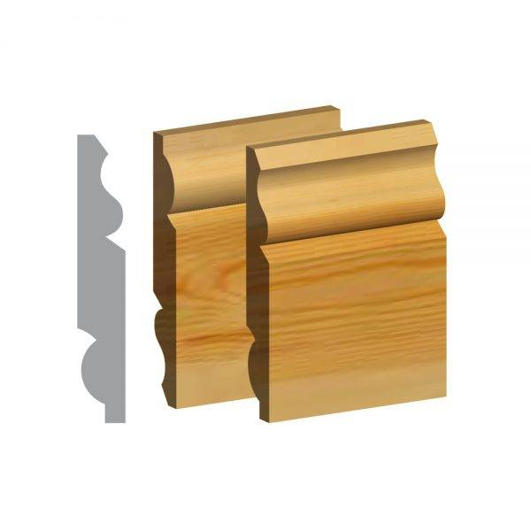 Redwood 5ths Torus/Ogee Dual Purpose Skirting FSC® 25 x 125mm