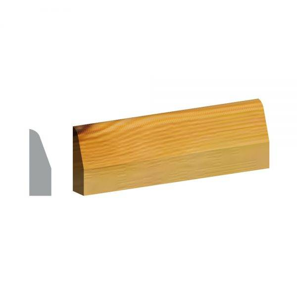 Redwood 5ths  Chamfered & Rounded Architrave FSC® 19 x 50mm