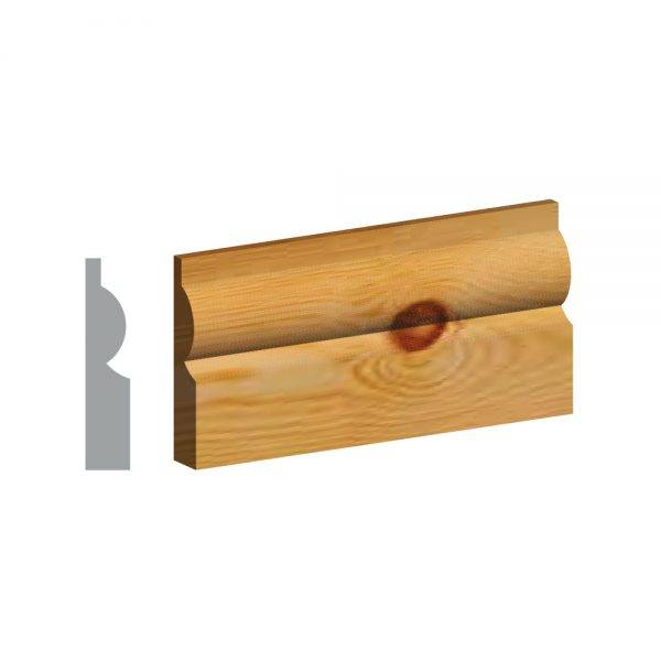 Redwood 5ths Torus Architrave FSC® 25 x 75mm