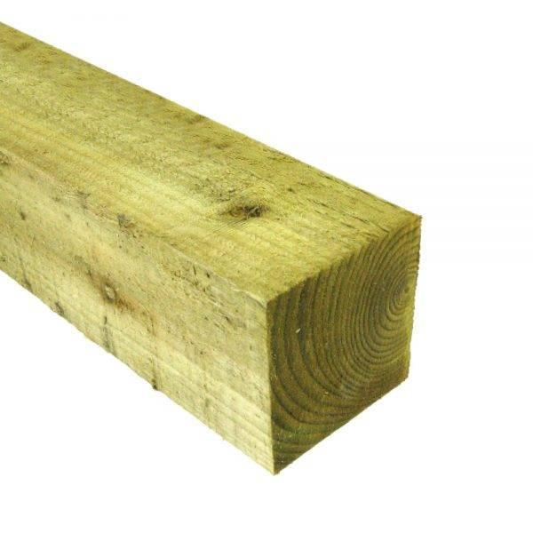 Tanalised Green Timber Fence Post 100 x 100mm x 3m
