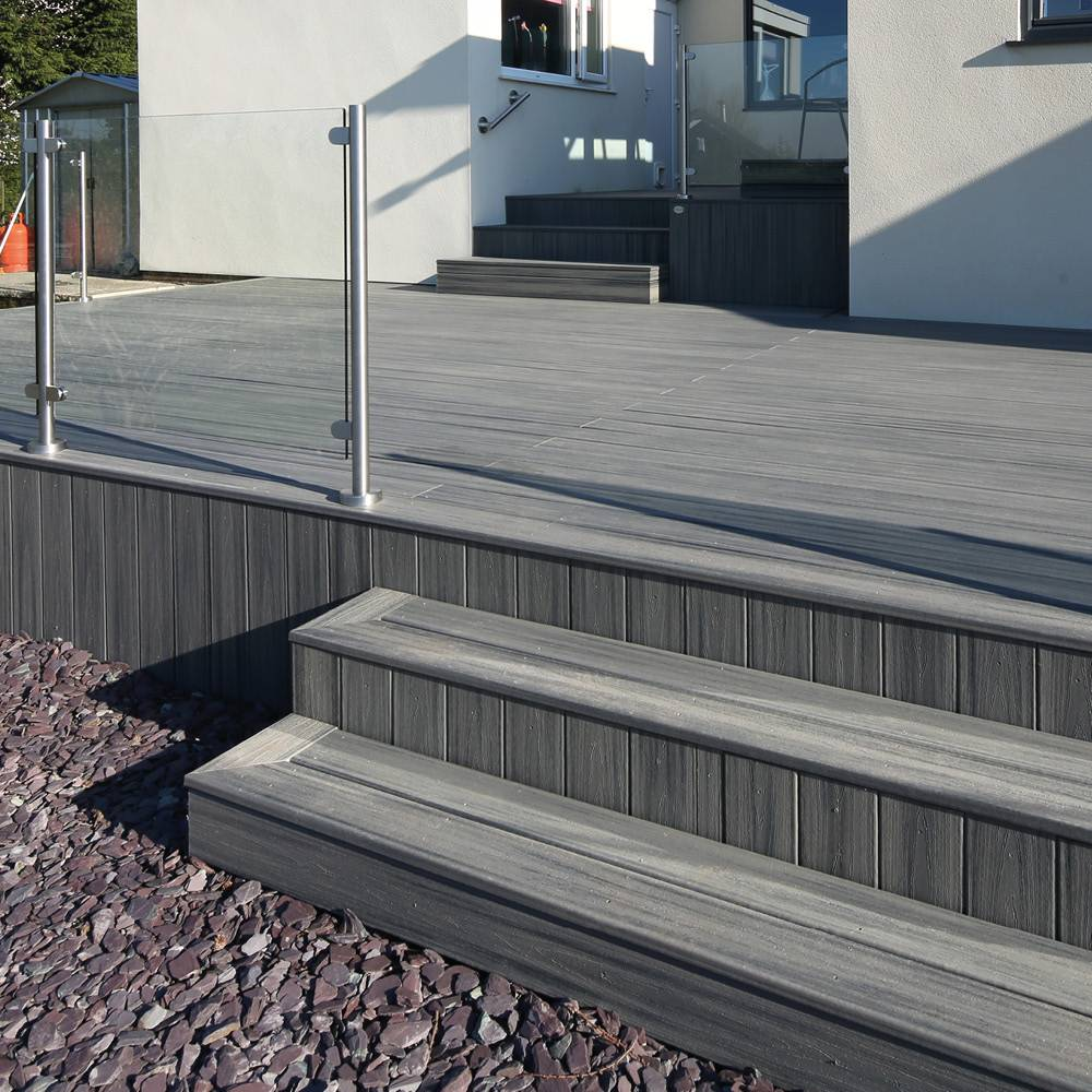 Trex Transcend Composite Grooved Decking Island Mist 25mm X 140mm X 4 88m Eh Smith Builders Merchants