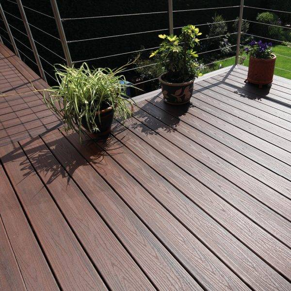 Trex Transcend Composite Grooved Decking  Lava Rock 25mm x 140mm x 3.66m