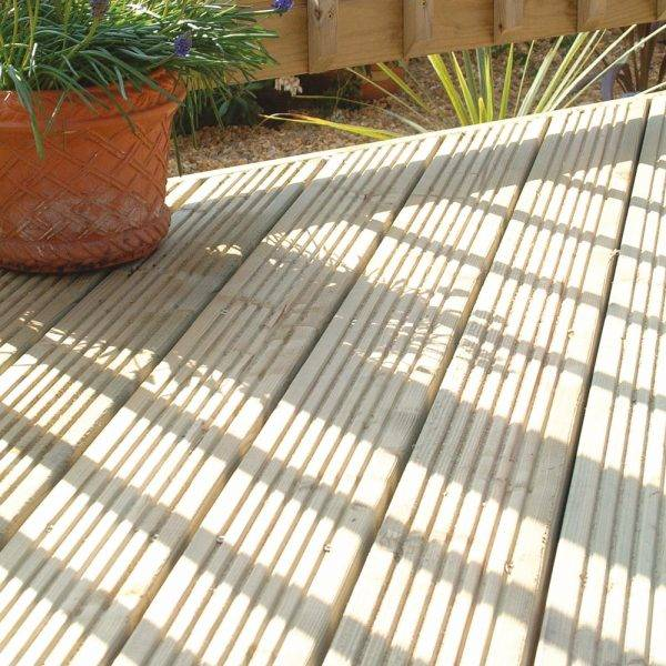 Trex Tanalised Reversible Patio Decking 32mm x 125mm x 3.6m