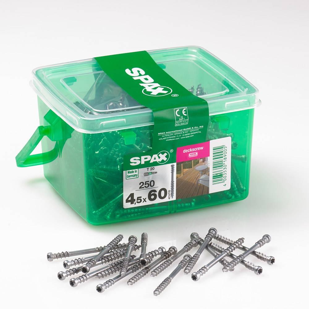 Spax Deck Screw 4 5 x 60mm Box of 250