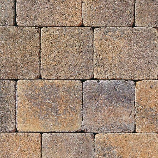Tegula Trio Tumbled Block Paving Heather Bracken 13.05m2 3 Size Mixed Pack