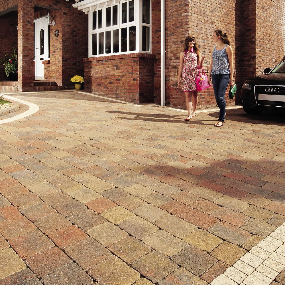 Tobermore Tegula Trio Tumbled Block Paving 3 Size Mixed