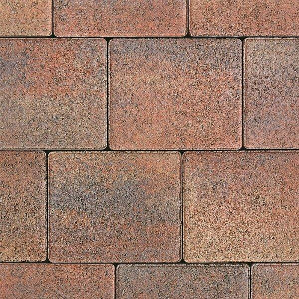 Tegula Trio Tumbled Block Paving Heather 13.05m2 3 Size Mixed Pack