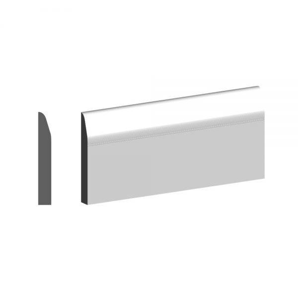 4.4m Primed MDF Rounded One Edge Skirting FSC® 15 x 94mm