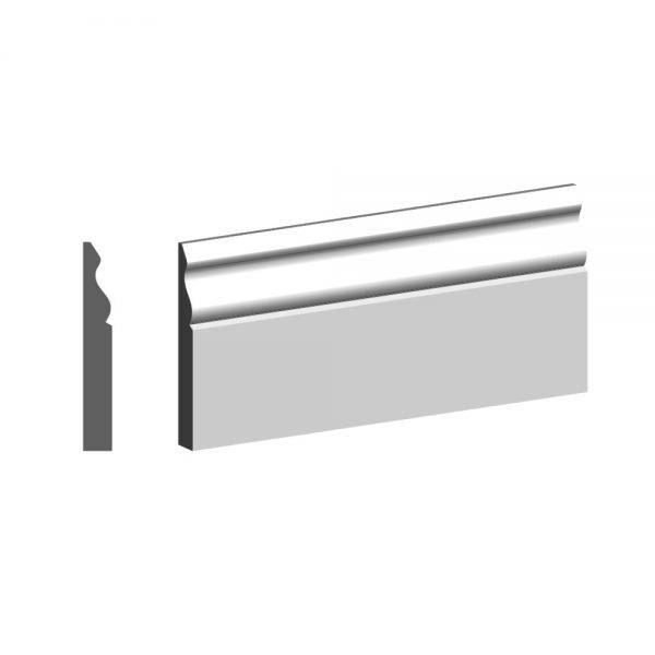 4.4m Primed MDF Ogee 1 Skirting FSC® 18 x 168mm