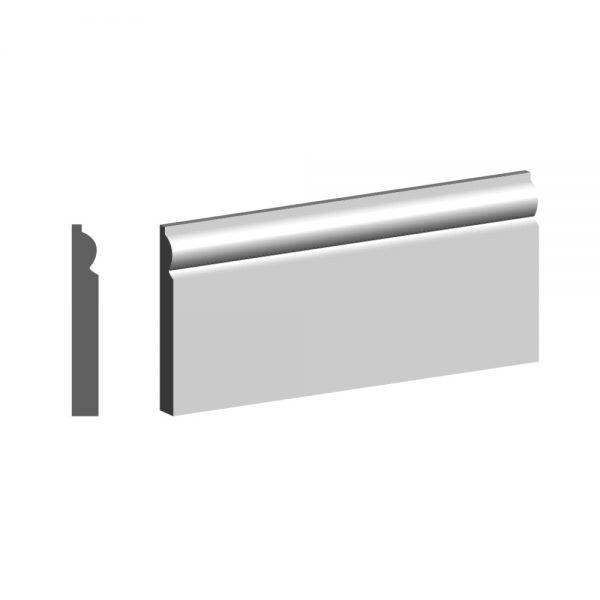 4.4m Primed MDF Torus 1 Skirting FSC® 18 x 68mm