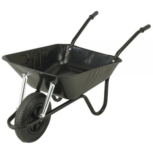 Walsall Wheelbarrow 85l Easiload Contractors Black