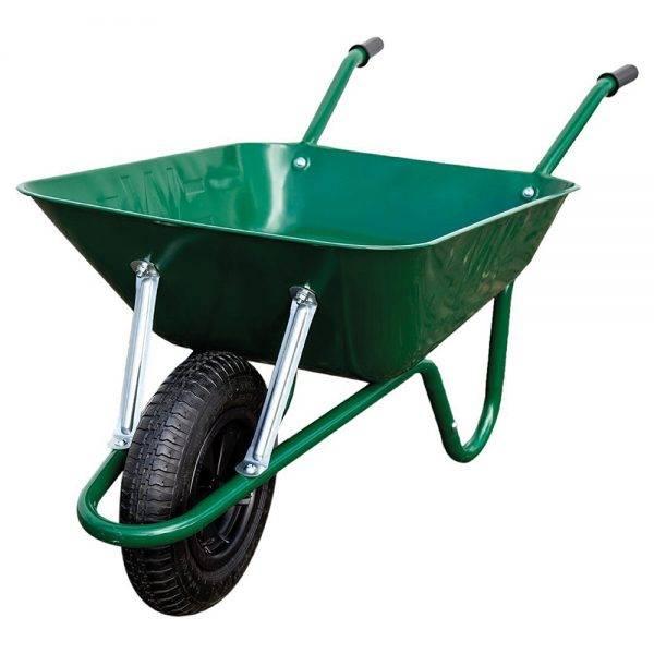 Walsall Steel Wheelbarrow 85l 0.8mm with Pneumatic Tyre Green