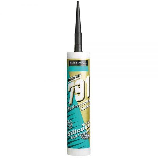 Dow 791 Weatherseal Silicone Sealant Black 310ml