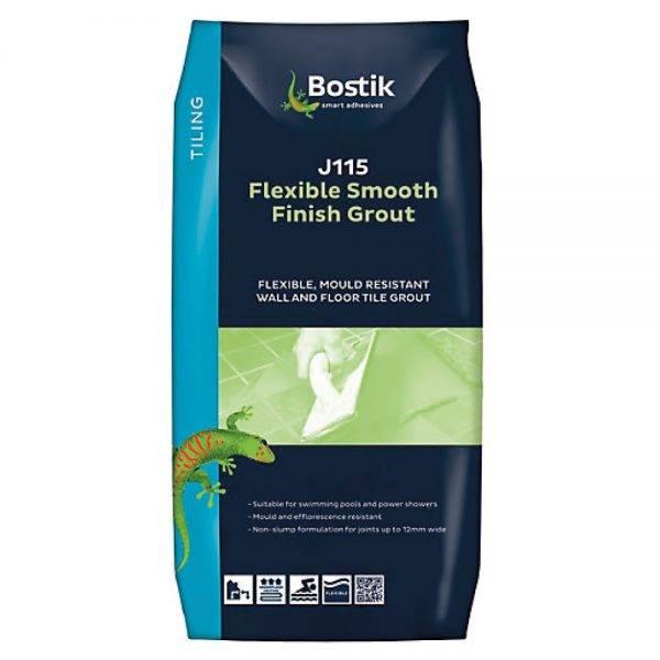 Bostik 5kg Smooth Flexible Grout J115 Grey White