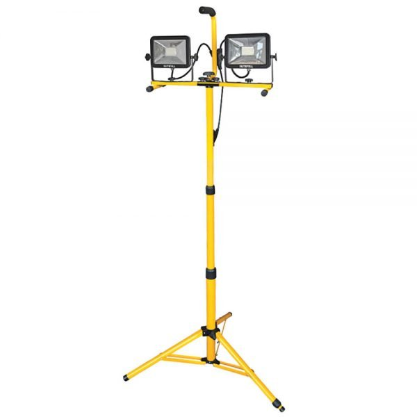 Faithfull 40W 240V SMD LED Twin Tripod Sitelight