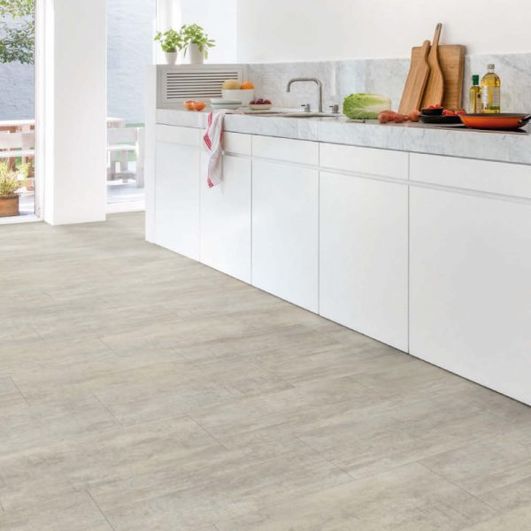Quick-Step Livyn Ambient Click Vinyl Flooring Light Grey Travertin 2.08m_/pack