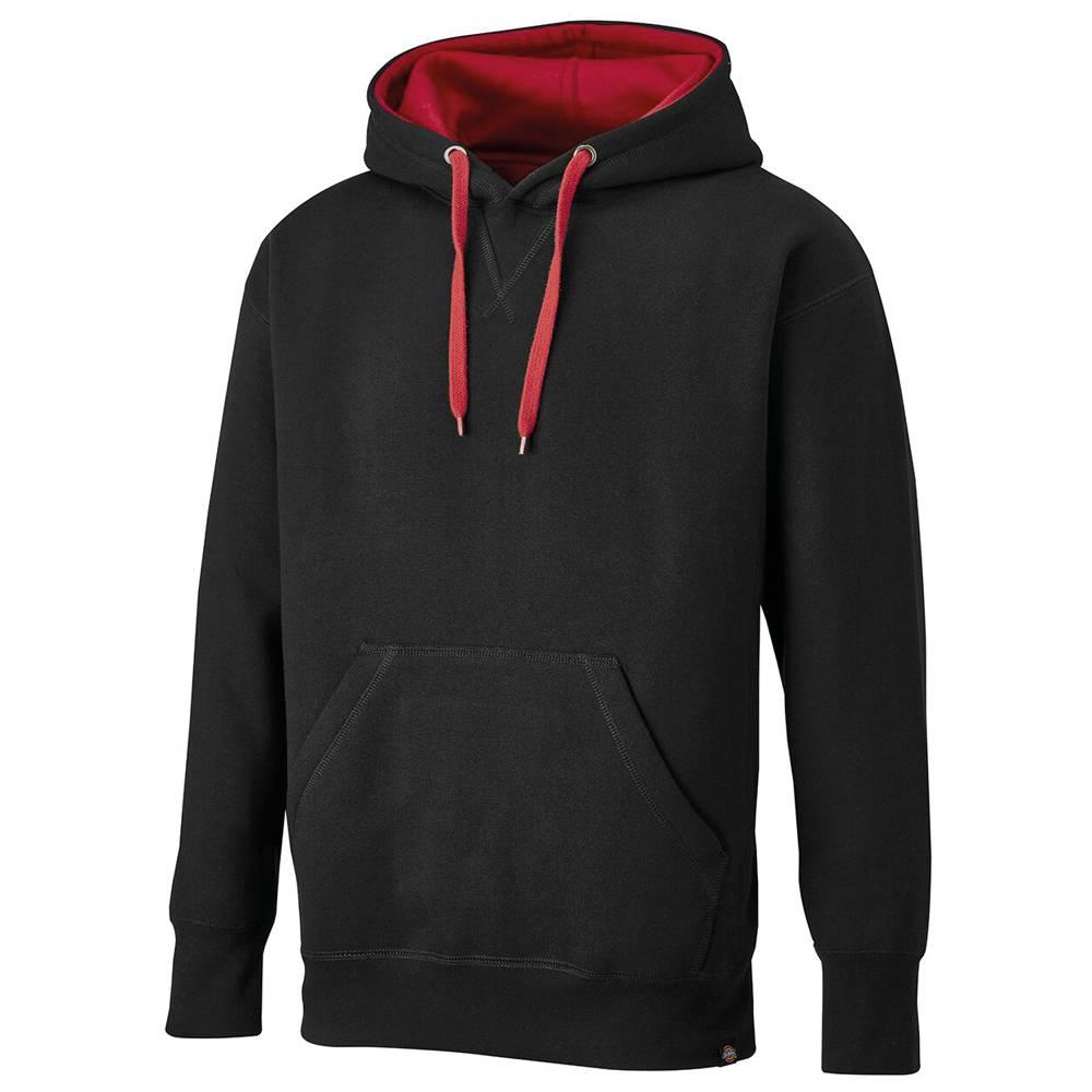 Dickies Hoodie//Pullover 2 Tone Sweatshirt Grey//Black-4XL
