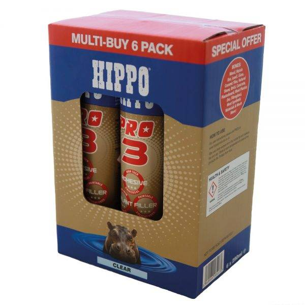 Hippo Pro 3® Adhesive, Sealant & Filler 310ml (Box of 6)