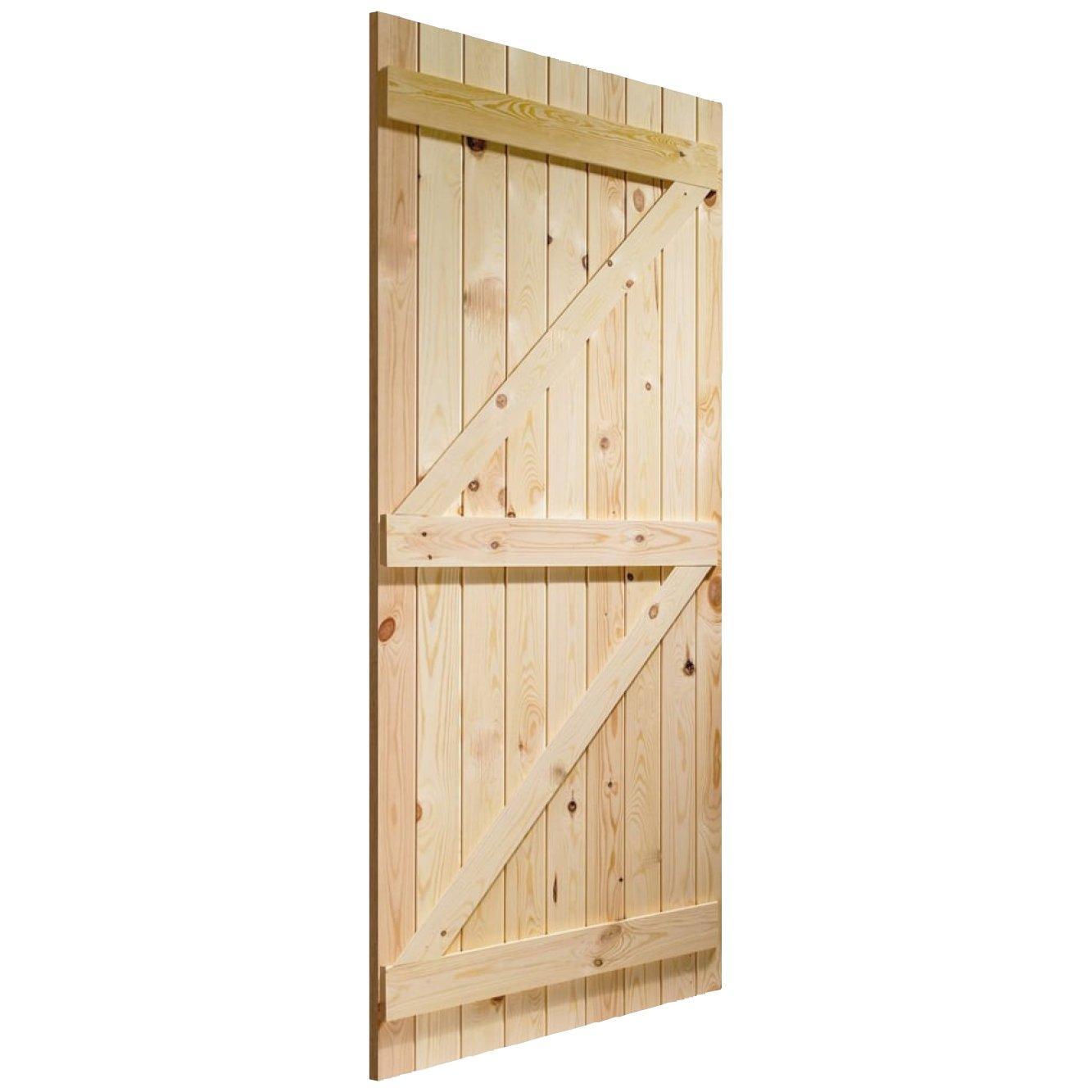 the latest 3a676 95a87 JB Kind Softwood Ledged & Braced External Door