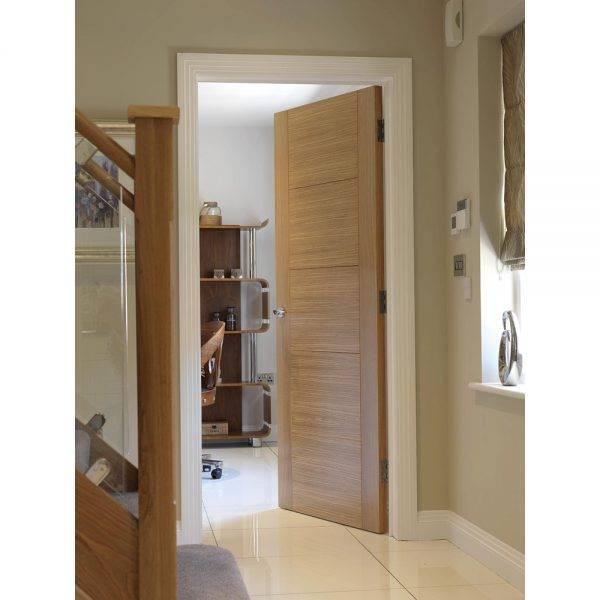 JB Kind Pre-Finished Tigris Oak Veneer Internal Door 35mm