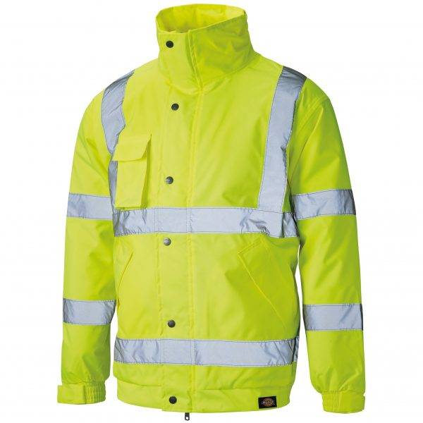 Dickies Hi-Vis Bomber Jacket Saturn Yellow M, L, XL, XXL, XXXL