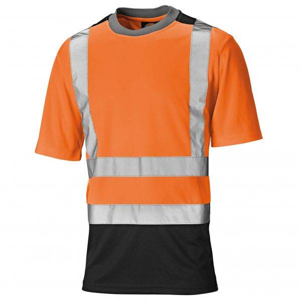 Dickies 2tone Hi-Vis Tee Orange/Navy S, M, L, XL, XXL